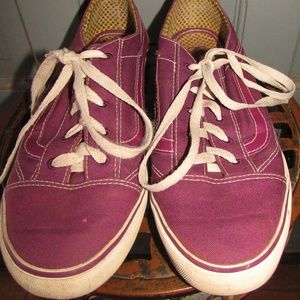 VANS PURPLE & WHITE OLD SCHOOL LIME DOT LINING